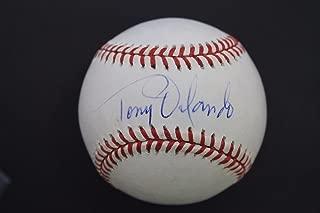Singer Tony Orlando 'Yellow Ribbon' Autographed MLB Signed Baseball JSA F