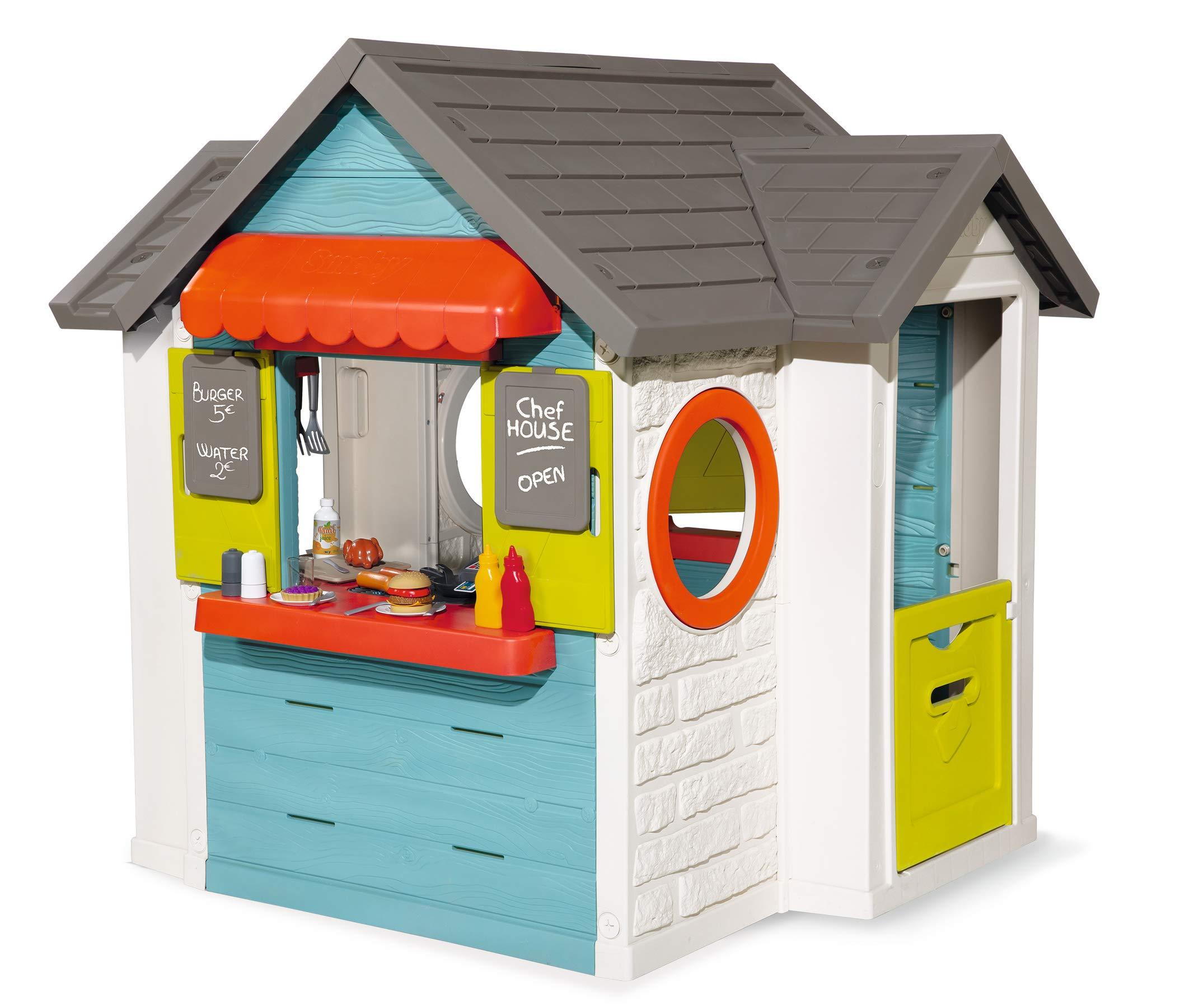 Smoby Maison Chef House Cabane De Jardin Enfant Cuisine Et Marchande Colore 810403 Amazon Fr Jeux Et Jouets