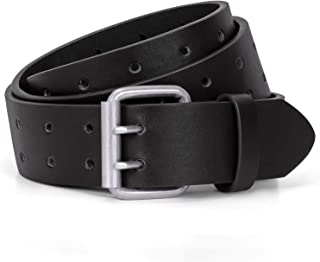 mens belts double hole