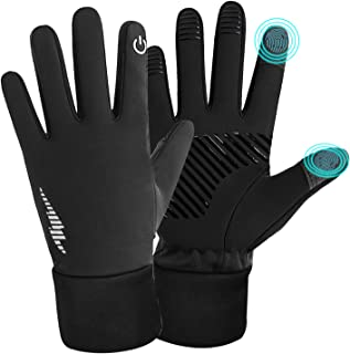 Refial Touch Screen Gloves, Winter Gloves, Anti-Slip Palm Silicone, Suitable for Indoor and Outdoor Sports, Short-Distance Cycling, Driving, Gardening, Mountain Bike Riding, Gloves for Men and Women