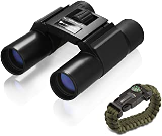 ELECLOVER 10x25 Portable High Definition Full Coated Optics with Blue Film Binoculars for Outdoor/Hunting/Bird Watching/Sightseeing/Concerts