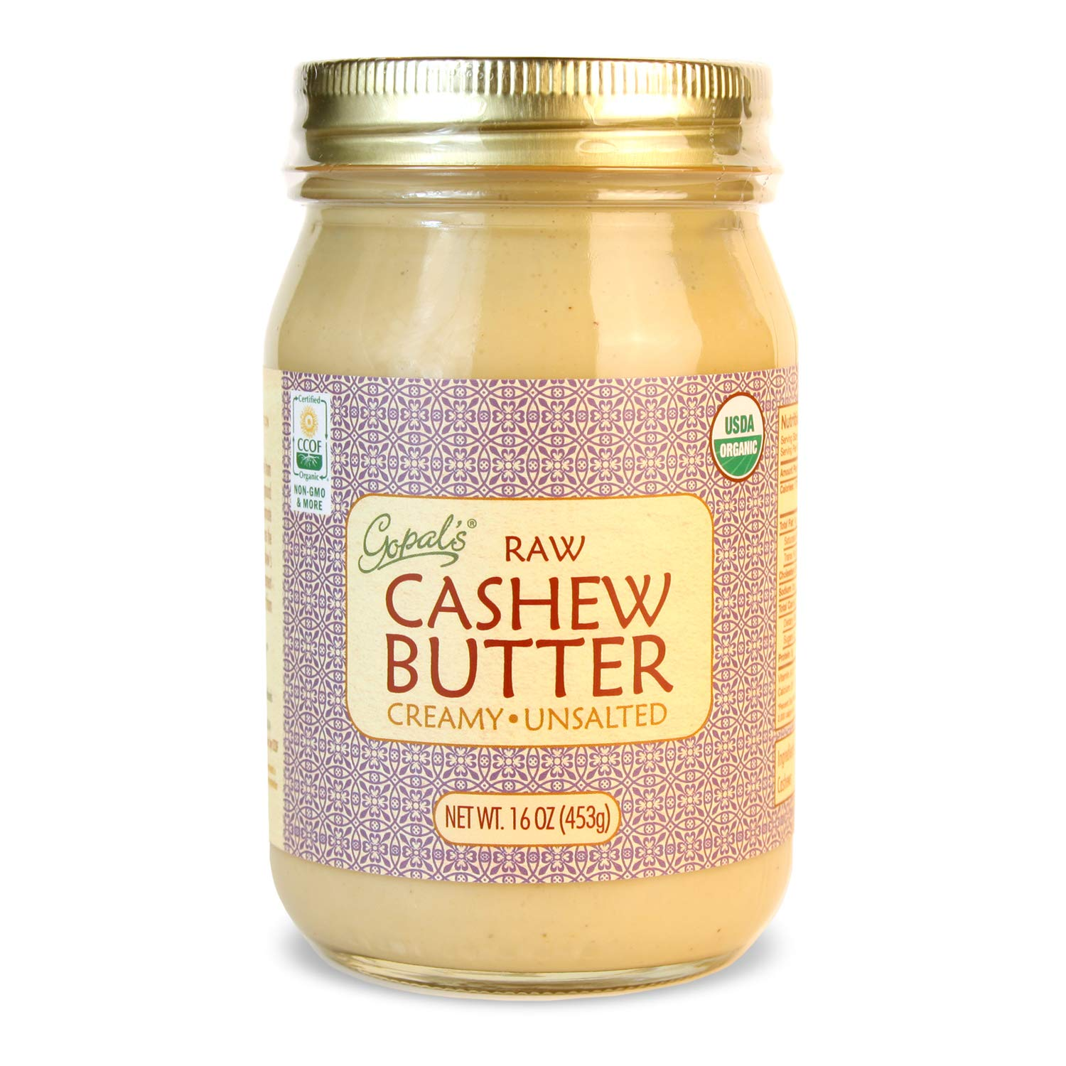 Gopal's Organic Fees free!! Raw Cashew Limited price and Gluten-Free USDA Butter