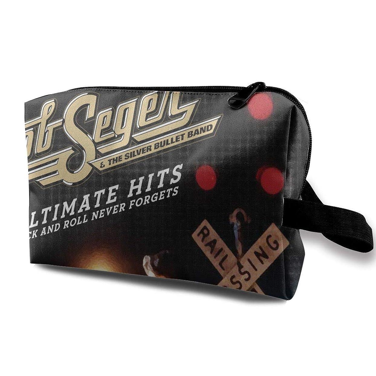 開発ポーク難しいBeatriceBGault Bob Seger レディース ポータブル ジッパー付き 旅行コスメバッグ メイクアップバッグ