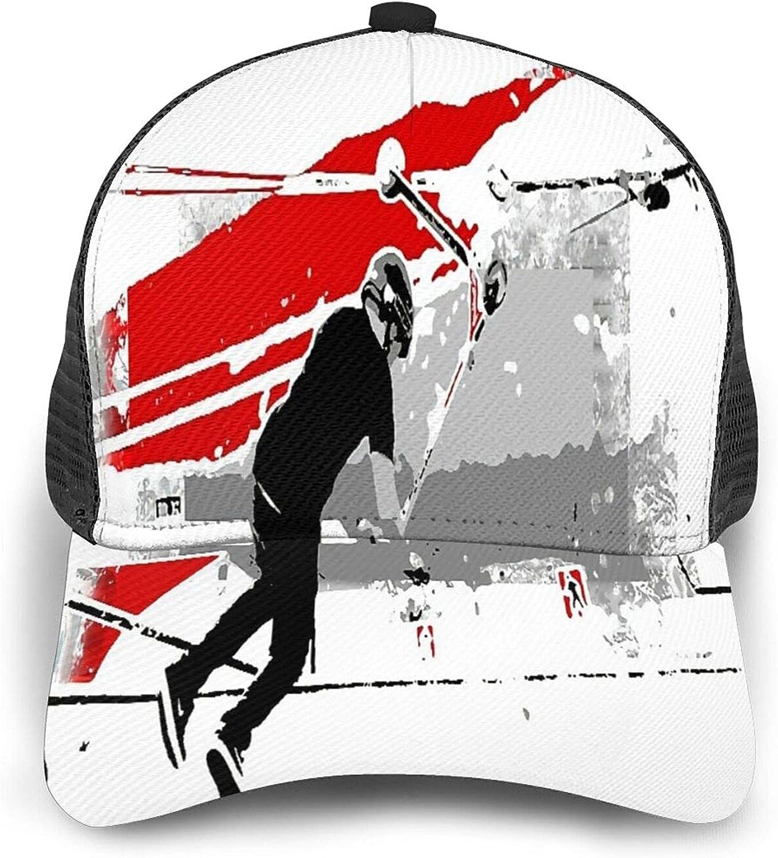 Minalo Gorra de Beisbol Espalda de Malla Senderismo al Aire Libre Sombrero