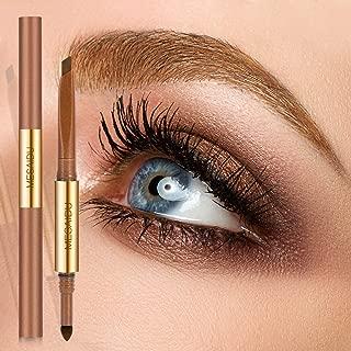 Mesaidu 3-in-1 Eye Makeup Eyebrow Pencil, Blender, Brush All In One (Walnut)
