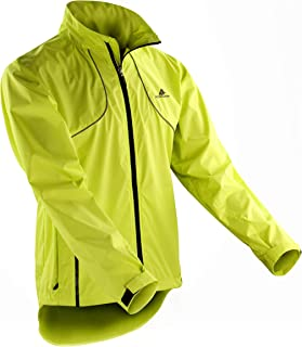 ActivRunner Performance High Visibility Running and Cycling Jacket, Lightweight, Windproof, Waterproof, Reflective. For Me...