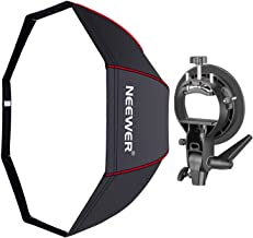Neewer 48 inches/120 centimeters Octagonal Softbox with Red Edges, S-Type Bracket Holder (with Bowens Mount) and Carrying Bag for Speedlite Studio Flash Monolight, Portrait and Product Photography