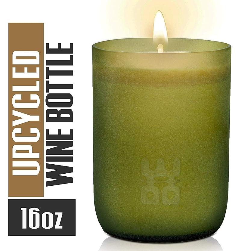 太平洋諸島びんパスWoo Worldsの機会Lucky Candle Upcycledワインボトル XL- 10 oz