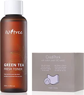ISNTREE Green Tea Fresh Hydrating Face Toner with Hyaluronic Acid for Sensitive Oily Dry Acne Prone Skin | Deep Moisturizi...