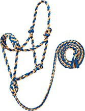 Braided Rope Halter with 6' Lead