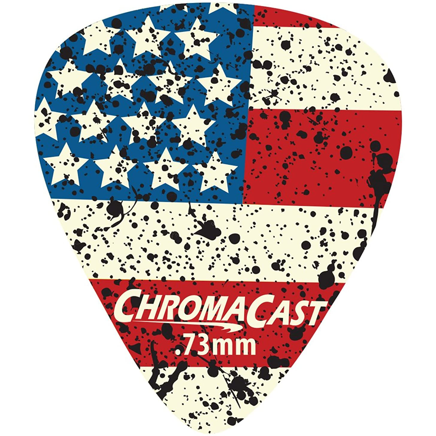 ChromaCast CC-DP-USA-73-10PK USA Flag Delrin Guitar Picks .73mm, Medium Dura, 10-pack