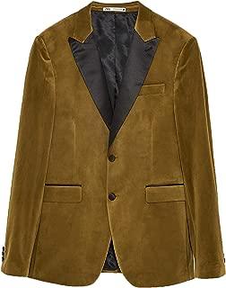Zara Men Contrasting Velvet Blazer 8245/352
