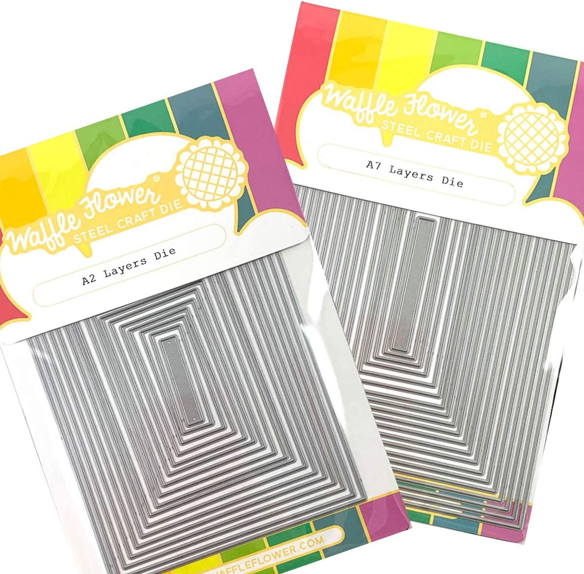 Surprise price Waffle Flower - Nesting Free shipping on posting reviews A2 and A7 Layers Rectan Bundle Die Kit