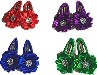 Xldreams Imported 4 Pairs of Kids Small flower shape beautiful Snapclip/tiktok
