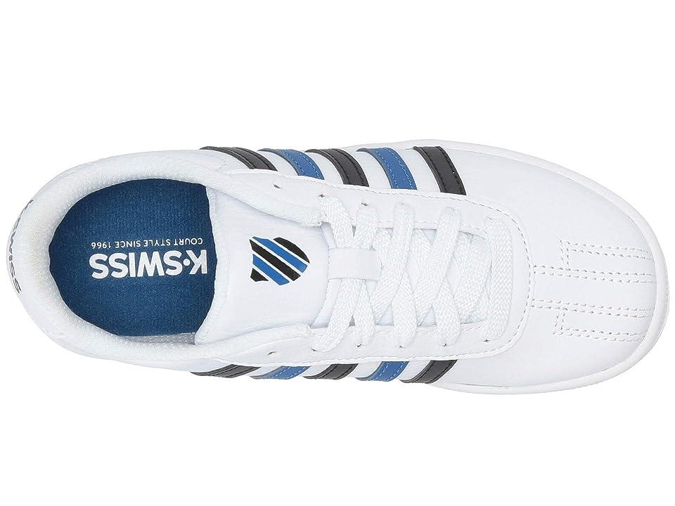 K-Swiss Classic Pro (Little Kid) (White/Black/Classic Blue) Shoes