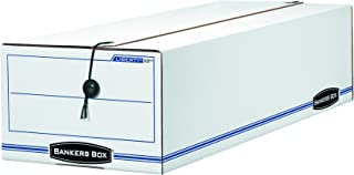 Bankers Box LIBERTY Check and Form Boxes, Standard Set-Up, String and Button, 9 1/2 x 23 1/4 x 6 Inches, Case of 12 (00022)