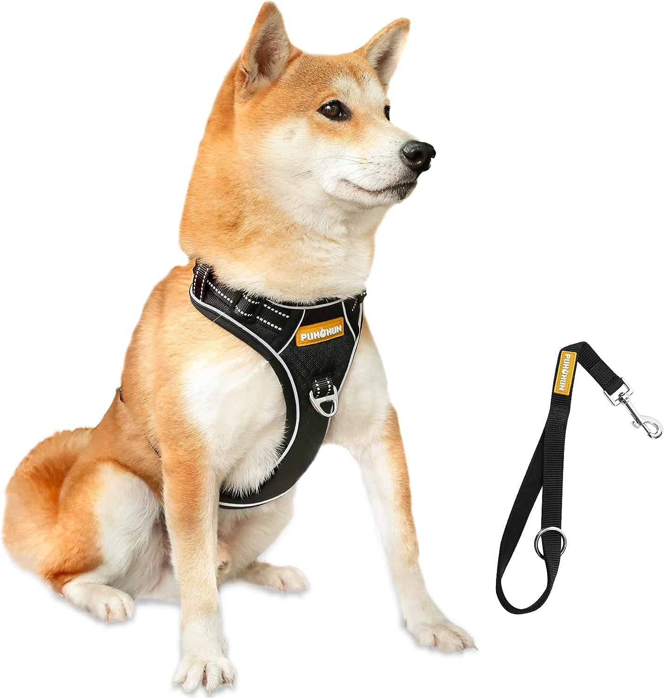 Dog Harness PUHOHUN Reflective V Adjustable Ranking TOP15 Mail order Pull No