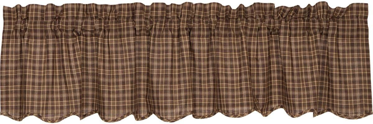 VHC Brands Ranking TOP10 Prescott Scalloped Valance Country Dar Curtain 100% quality warranty! 16x72