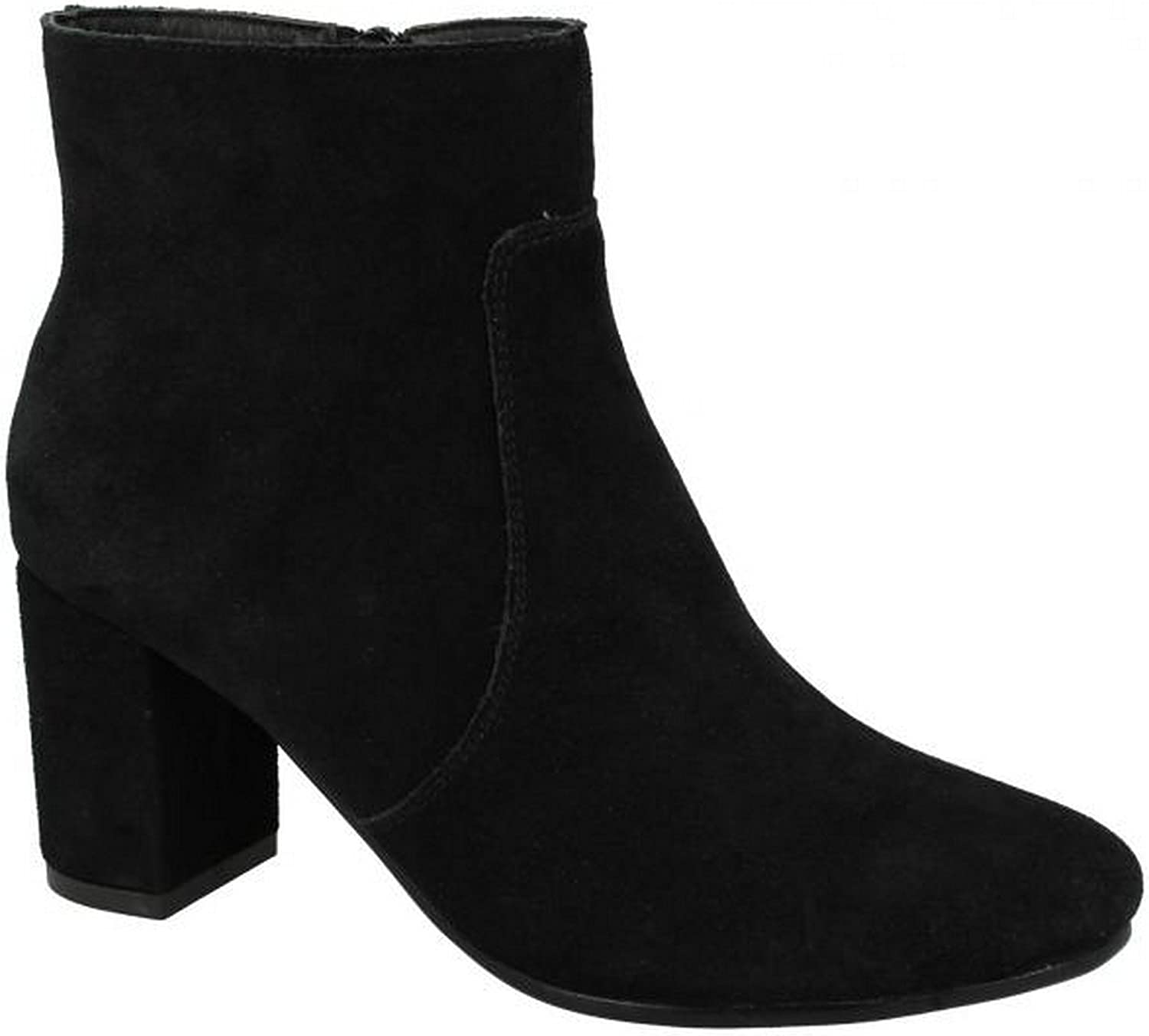 Kidderminster Leather Collection Womens Ladies Suede Ankle Boots