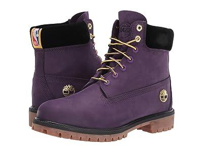 Timberland Los Angeles Lakers 6 Premium Waterproof Boot (Purple Pennant) Men