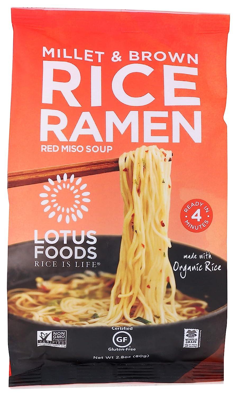 Lotus Foods Organic Ramen Miso Soup Mix-Millet & Brown-2.8 oz