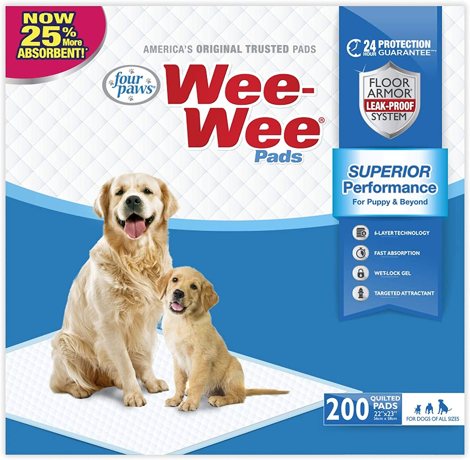 WEE-WEE PADS 200 Safety and Philadelphia Mall trust CT Count