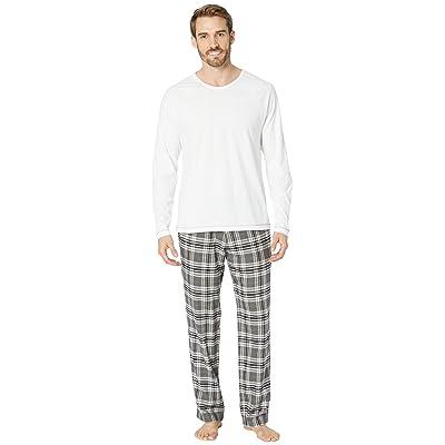 UGG Steiner Woven Sleepwear Set Gift Box (Charcoal/White) Men
