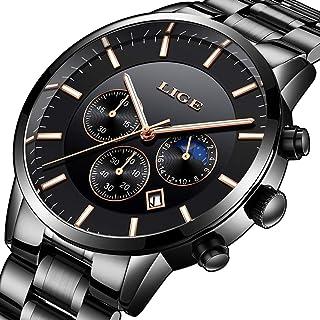77b98595f2 Orologi da uomo Marchio di lusso LIGE Fashion Automatic Machinery Orologi  Uomo Impermeabile Data Business Casual