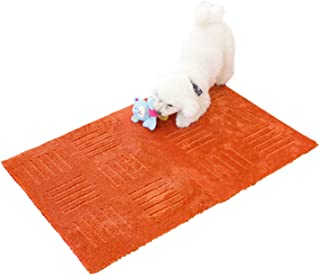 オカ タイルカーペット オレンジ 約45cm×60cm(2枚入り) ピタプラスPET (ジョイント 吸着 洗える)