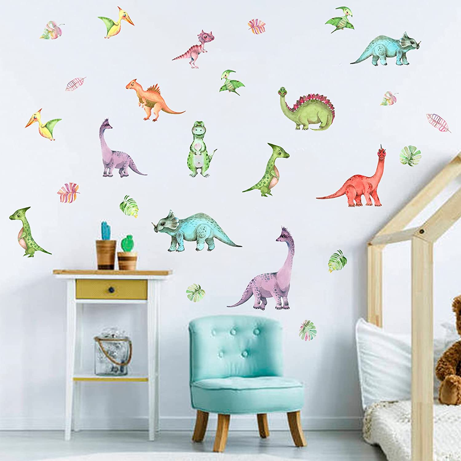 Classic COKOYY Dinosaur Ranking TOP20 Wall Watercolor Stickers Decals