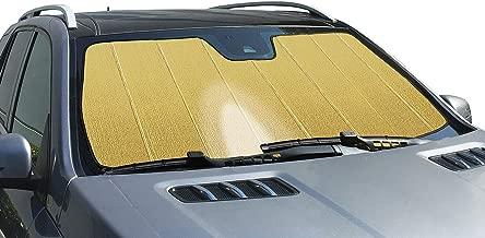 Intro-Tech Automotive PR-02-RG Gold Ultimate Reflector Custom Fit Folding Windshield Sunshade for Select Porsche 356 Models