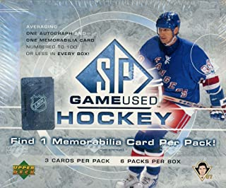 2005-06 Upper Deck SP Game Used Hockey Hobby Box