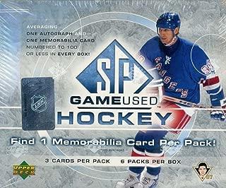 2005-06 Upper Deck SP Game Used Hockey Hobby Box