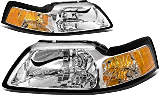 DNA Motoring HL-OH-FM99-CH-AM Headlight Assembly, Driver and Passenger Side