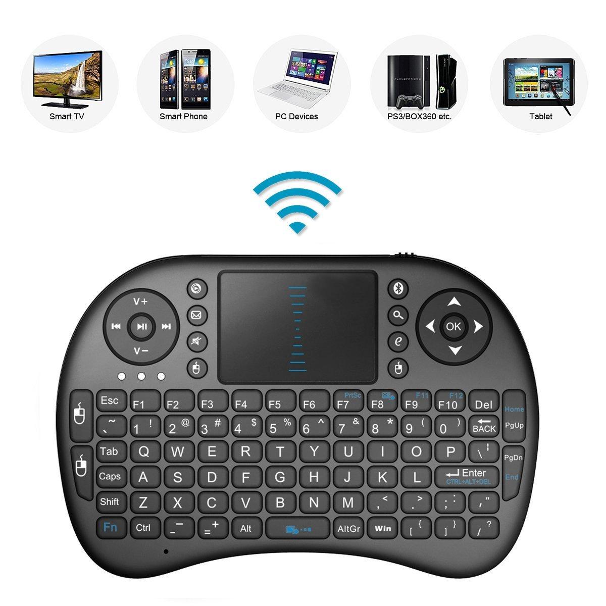 2,4 gHz Mini Mobile teclado inalámbrico con Touchpad Ratón, recargable Li-ion batería para Panasonic tx-49dxw654 tx-40dxw654 tx-55dxw604 Smart TV: Amazon.es: Informática