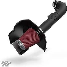 K&N Cold Air Intake Kit with Washable Air Filter: 2014-2020 Chevy/GMC/Cadillac (Silverado 1500, Suburban, Tahoe, Sierra 1500, Yukon, Yukon Denali, Escalade) V8, Black HDPE Tube, 63-3082