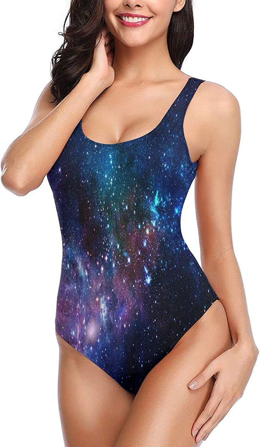 OcuteO Womens One Piece Bathing Suits Sexy Padded Sporty Swimsuits Teen Girls Purple