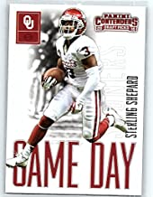 2016 Contenders Draft Picks Game Day Tickets Football #32 Sterling Shepard Oklahoma Sooners Official NCAA Rookie Card made by Panini