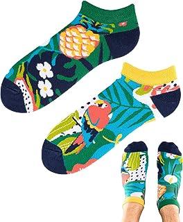 TODO Colours - Calcetines con diseño de piña, loro, divertidos calcetines para hombre y mujer, multicolor