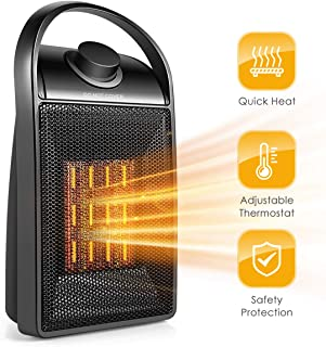 Space Heater, Portable Quiet Ceramic Space Heater, 750W/1500W Ceramic Electric Heater..