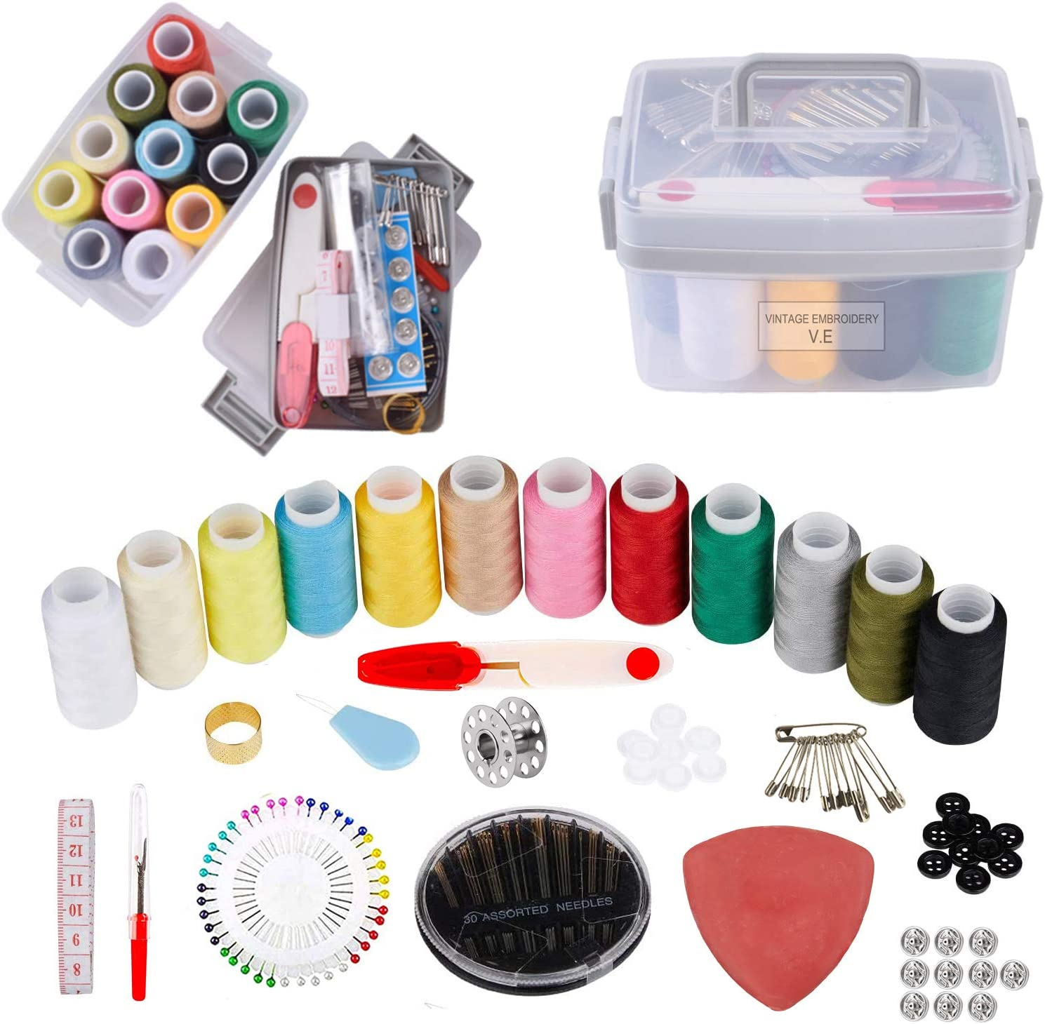 Premium Sewing Kit Set - T Supplies Free Shipping Cheap Bargain Gift Portable Our shop most popular Beginner for