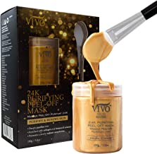 Vivo Per Lei 24K Gold Brightening Face Mask - Paraben Free Gold Facial Mask - Hydrating Face Mask with Collagen & Botanicals - Gold Face Mask to Purify Skin - 150 g, 5.3 oz.