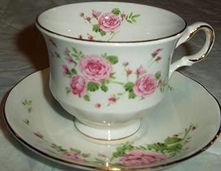 Avon 1974 Pink Roses Bone China Cup & Saucer Set