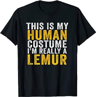 This Is My Lemur Costume Halloween Gifts Men Women Kids T-Shirt