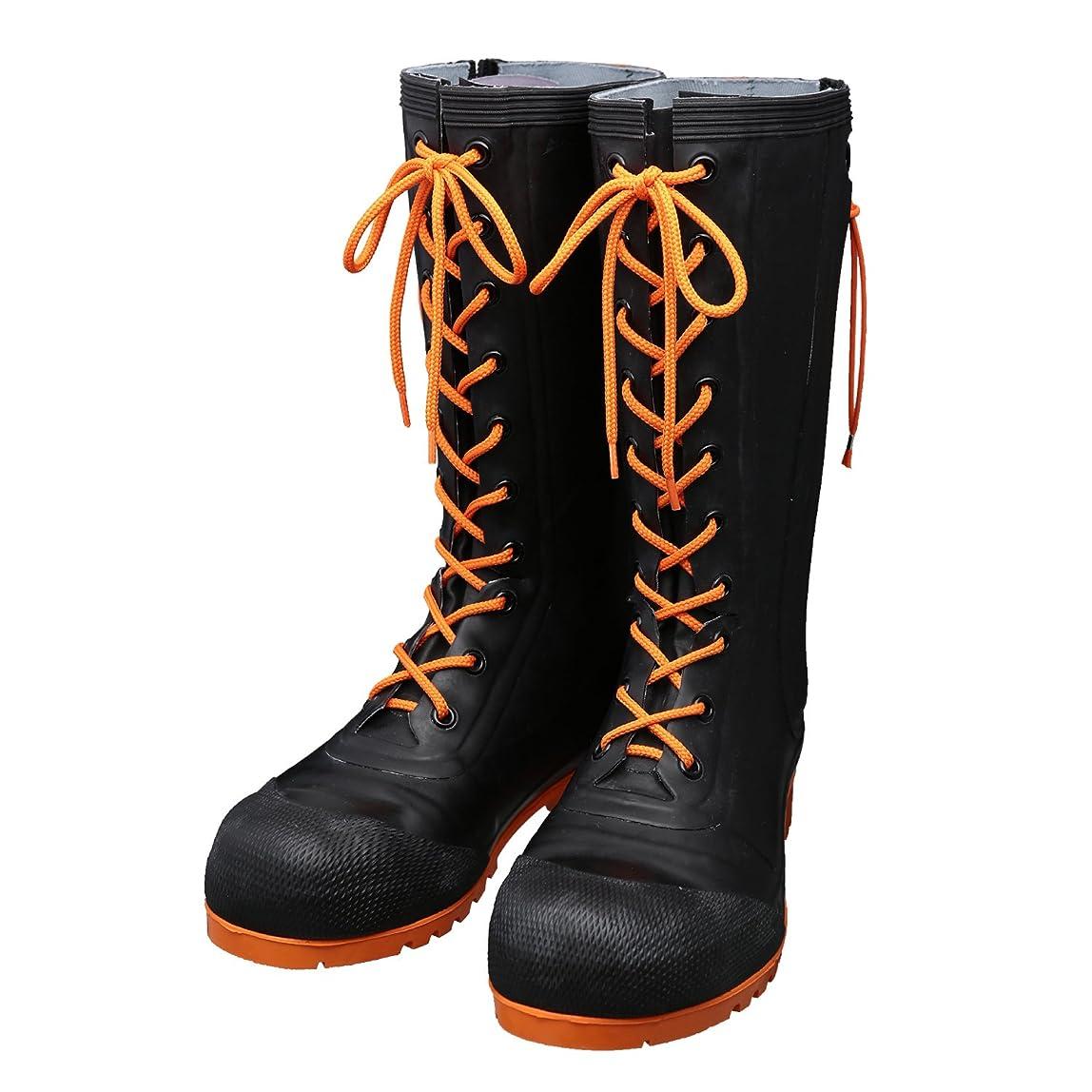 好戦的なマリナー永久AB090(ブラック)?AB110(ブラック/オレンジ) 安全編上?靴 HSS-001