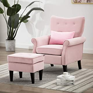 Amazon.com: Living Room Chairs - Velvet / Pink / Chairs / Living Room Furniture: Home & Kitchen