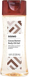 Amazon Brand - Solimo Body Oil Gel with Cocoa Butter, Paraben Free, 6.8 Fluid Ounce