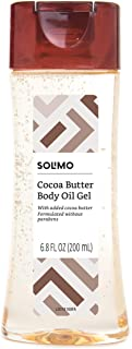 Amazon Brand – Solimo Body Oil Gel with Cocoa Butter, Paraben Free, 6.8 Fluid Ounce
