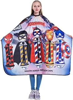 DOKKIA Unisex Baber Cutting Cape Hairdressing Salon Hair Styling Cloth Apron Cover Gown (Grown-ups CARTOON PRINT/50