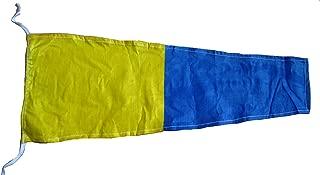 Brass Blessing 5 - International Nautical Signal Flag/Pennant - 100% Cotton – Marine Code - 20 X 8.5 - Boat/Maritime (5041)